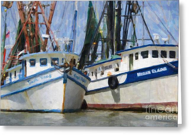 Mt. Pleasant Sc Greeting Cards - Shrimp Boats on The Creek Greeting Card by Dale Powell
