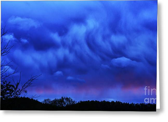 Colorful Cloud Formations Greeting Cards - Sky Drama Greeting Card by Thomas R Fletcher