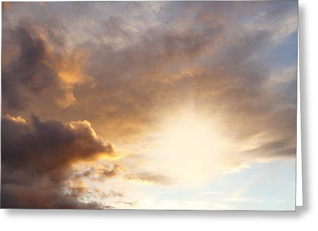 Heavenly Sunrise Greeting Cards - Sky Greeting Card by Les Cunliffe