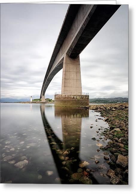 Scenic Greeting Cards - Skye Bridge Greeting Card by Grant Glendinning