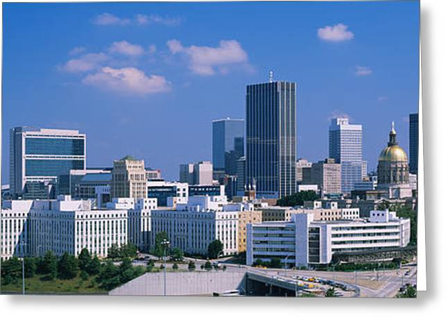 Capitol Greeting Cards - Skyscrapers In A City, Atlanta Greeting Card by Panoramic Images