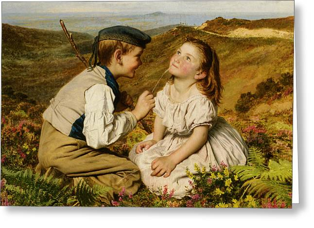 Young Teen Greeting Cards - Its Touch And Go To Laugh Or No Greeting Card by Sophie G Anderson