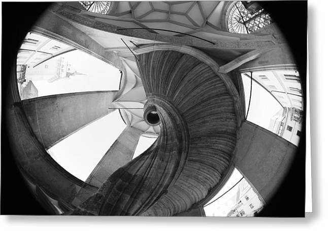Deutschland Greeting Cards - Spiral Staircase Greeting Card by Falko Follert