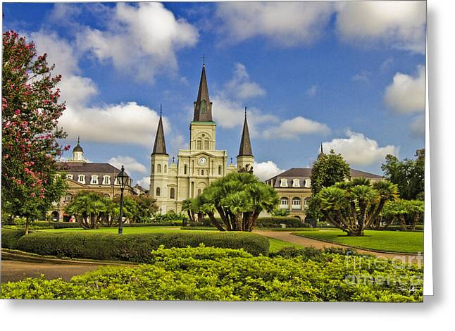 St. Louis Cathedral Greeting Cards - St. Louis Cathedral  Greeting Card by Scott Pellegrin