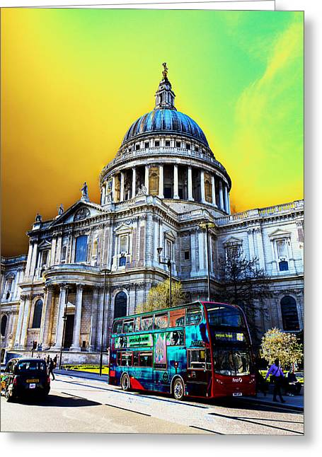 St Pauls Cathedral London Art Greeting Card by David Pyatt