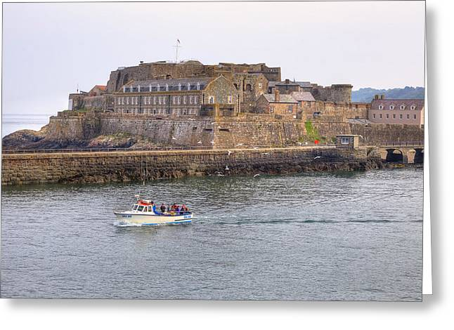 Castle Photographs Greeting Cards - St Peter Port - Guernsey Greeting Card by Joana Kruse