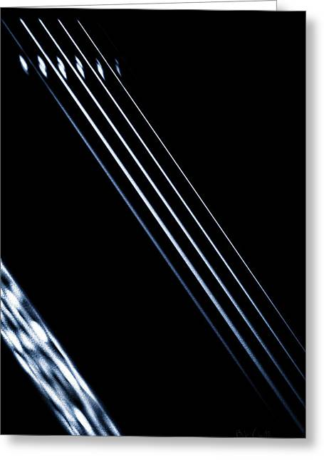 Fame Shop Greeting Cards - 5 Strings Of Light Greeting Card by Bob Orsillo