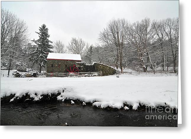 Sudbury Greeting Cards - Sudbury Grist Mill Greeting Card by Catherine Reusch  Daley
