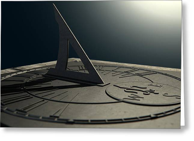 Medieval Clock Greeting Cards - Sundial Lost In Time Greeting Card by Allan Swart