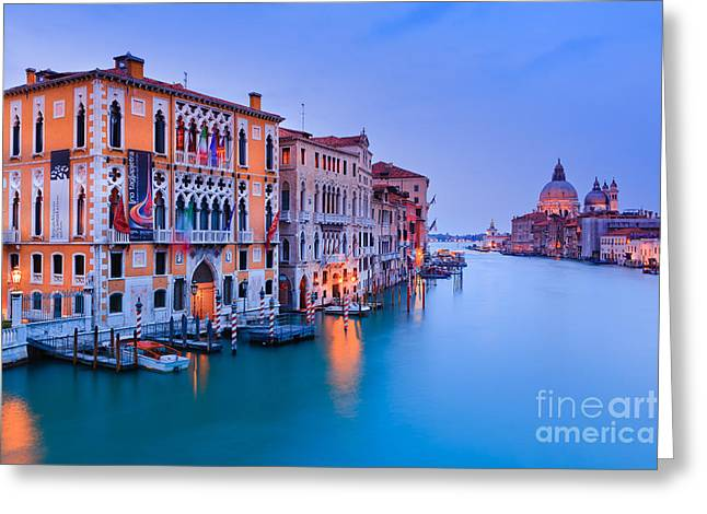 Old City Prints Greeting Cards - Sunset in Venice Greeting Card by Henk Meijer Photography