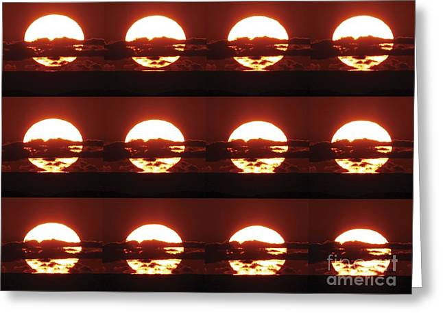 Inversion Greeting Cards - Sunset Greeting Card by Laurent Laveder