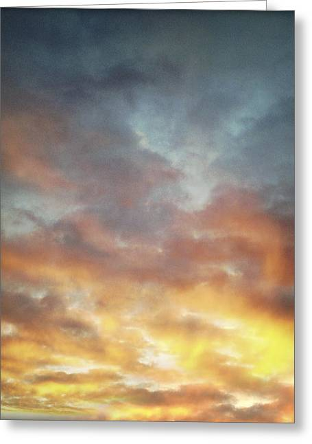 Warm Summer Greeting Cards - Sunset sky Greeting Card by Les Cunliffe