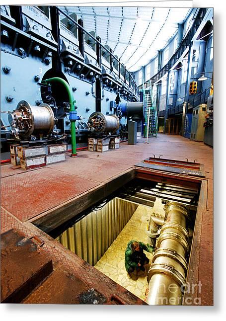 European Particle Physics Lab Greeting Cards - Synchrotron Particle Accelerator Greeting Card by RIA Novosti