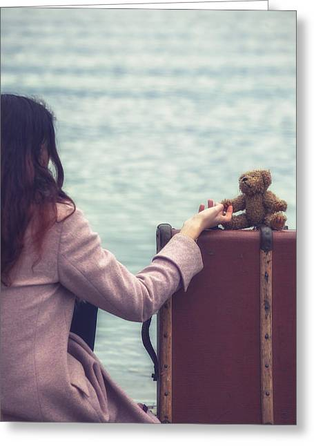 Pensive Greeting Cards - Teddy Bear Greeting Card by Joana Kruse