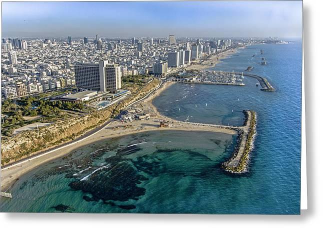 Ofir Ben Tov Greeting Cards - Tel Aviv Shore Line, Tel Aviv Greeting Card by Ofir Ben Tov