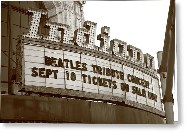 Indiana Photography Greeting Cards - Terre Haute - Indiana Theater Greeting Card by Frank Romeo