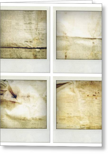 Blank Pages Greeting Cards - Textures Greeting Card by Les Cunliffe