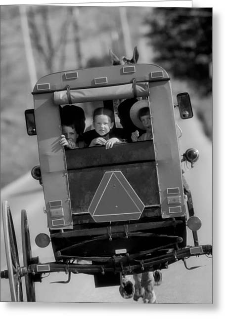 Looking Out The Window Greeting Cards - The Amish Way of Life Greeting Card by Mountain Dreams