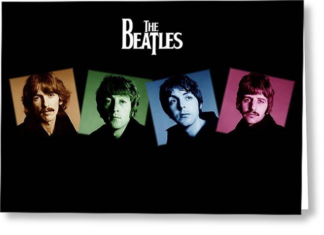 Apple Records Greeting Cards - The Beatles Greeting Card by Kenneth A Mc Williams