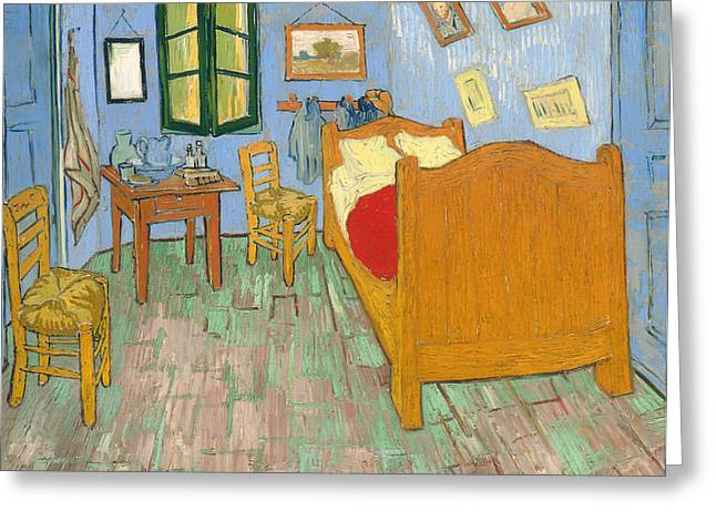 Historical Pictures Paintings Greeting Cards - The Bedroom Greeting Card by Vincent van Gogh