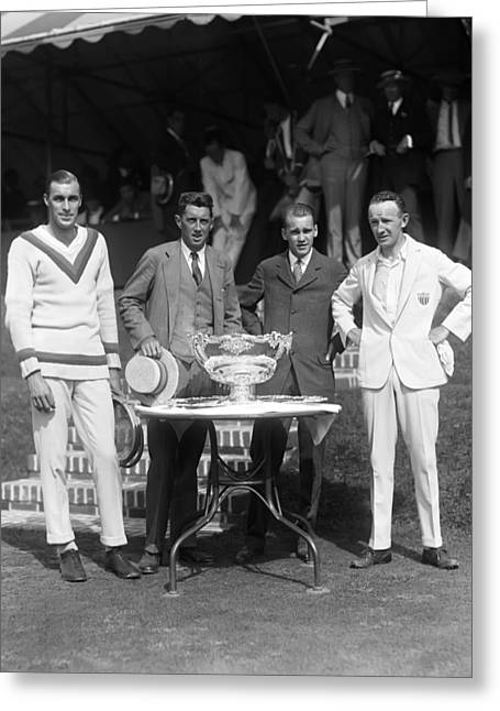 Davis Cup Greeting Cards - The Davis Cup Greeting Card by Retro Images Archive