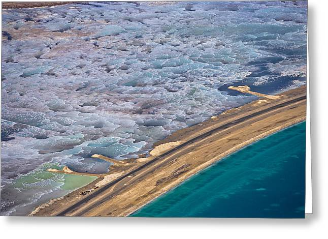 Sea Of Salt Greeting Cards - The Dead Sea Greeting Card by Ofir Ben Tov