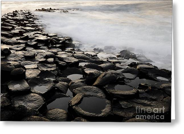 Stepping Stones Greeting Cards - The Giants Causeway Greeting Card by John Shaw