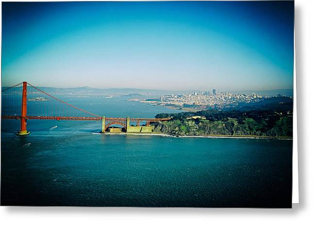 The Golden Gate Bridge Greeting Card by Mountain Dreams