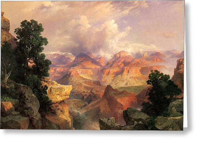 The Grand Canyon Greeting Cards - The Grand Canyon Greeting Card by Thomas Moran