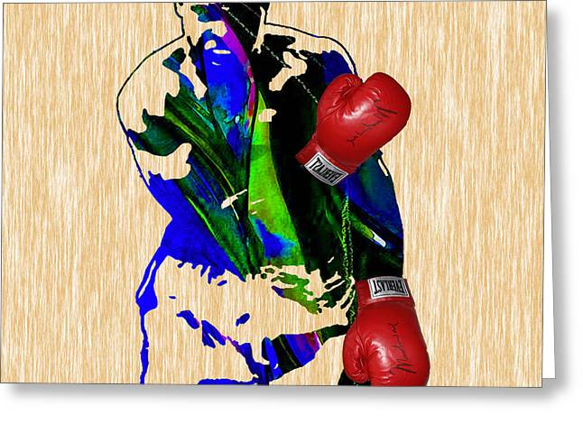 Boxing Greeting Cards - The Greatest Muhammad Ali Greeting Card by Marvin Blaine
