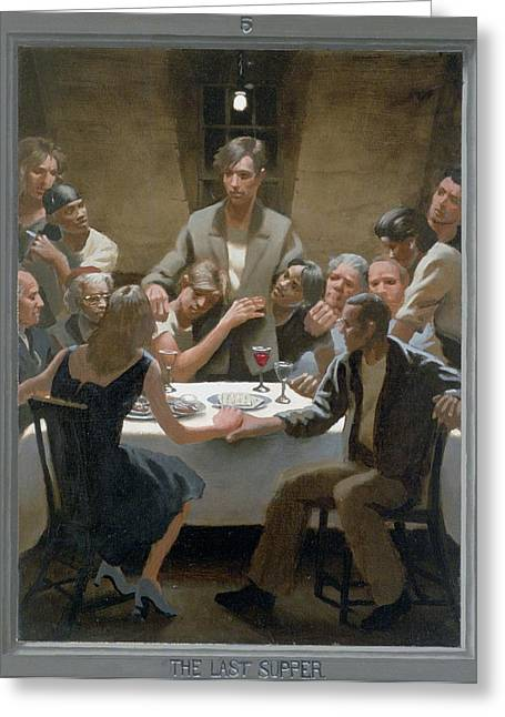Recently Sold -  - Holy Week Greeting Cards - 5. The Last Supper / from The Passion of Christ - A Gay Vision Greeting Card by Douglas Blanchard