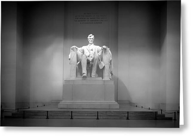 Abraham Lincoln Artwork Greeting Cards - The Lincoln Memorial Greeting Card by Mountain Dreams