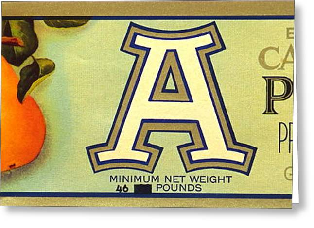 Labelled Greeting Cards - Antique Food Packaging Label. Greeting Card by Robert Birkenes