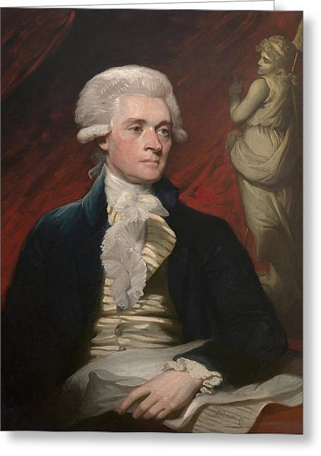 Jefferson Paintings Greeting Cards - Thomas Jefferson Greeting Card by War Is Hell Store