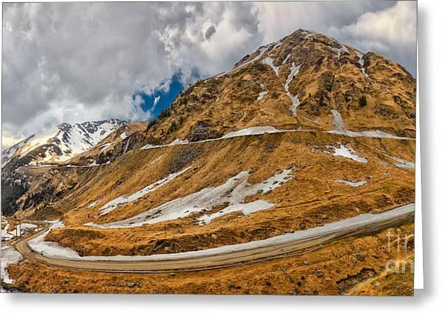 Transfagarasan Highway Greeting Card by Gabriela Insuratelu