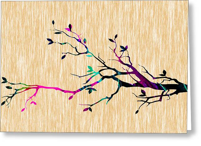 Tree Of Life Greeting Cards - Tree Branch Greeting Card by Marvin Blaine