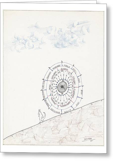 Untitled Greeting Card by Saul Steinberg