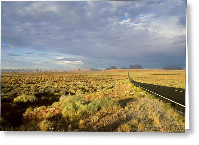 Scenary Greeting Cards - Usa, Arizona, Monument Valley Navajo Greeting Card by Tips Images