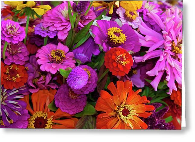 Usa, Georgia, Savannah, Bouquet Greeting Card by Joanne Wells
