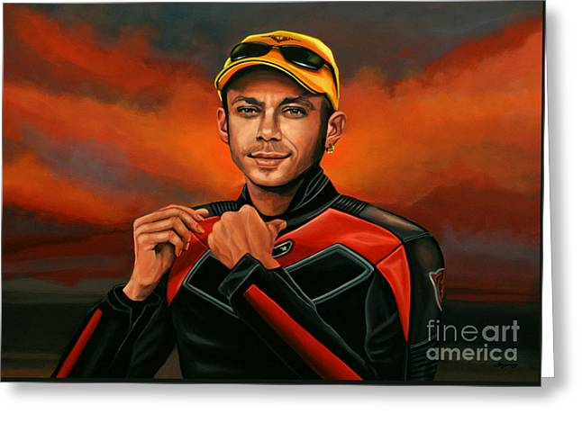 Vale Greeting Cards - Valentino Rossi  Greeting Card by Paul  Meijering