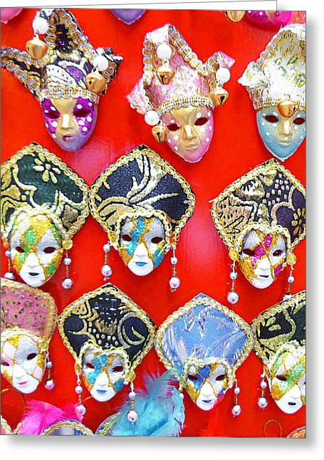 Masked Greeting Cards - Venetian Masks  Greeting Card by Irina Sztukowski
