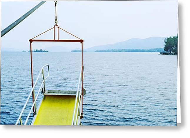 Steamboat Photographs Greeting Cards - View From The Minne Ha Ha Steamboat Greeting Card by Panoramic Images