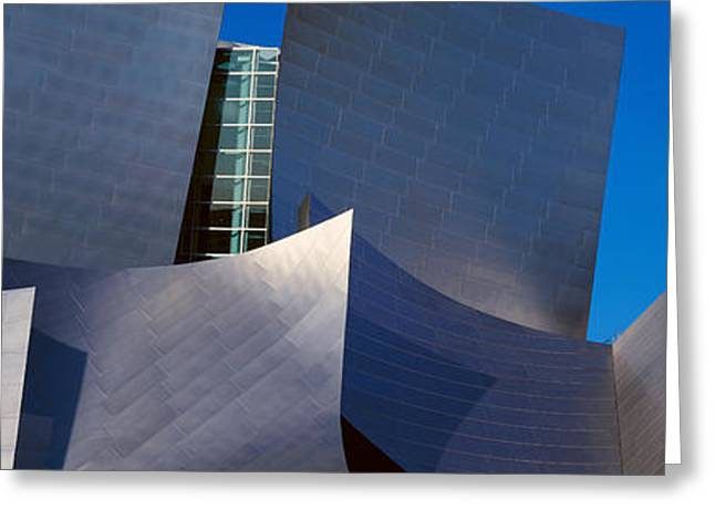 Geometric Design Greeting Cards - Walt Disney Concert Hall, Los Angeles Greeting Card by Panoramic Images