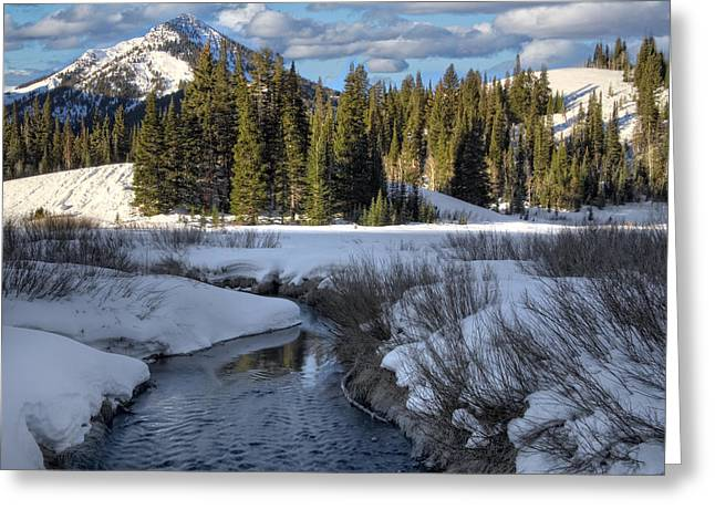 Snow Drifts Greeting Cards - Wasatch Mountains in Winter Greeting Card by Utah Images
