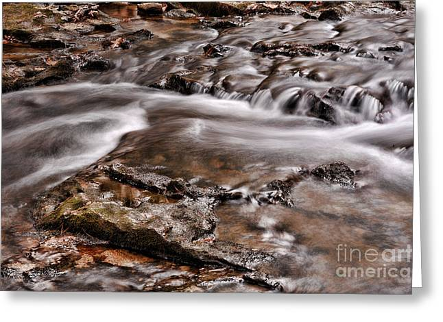 Waterfall Greeting Cards - Waterfall  Greeting Card by HD Connelly