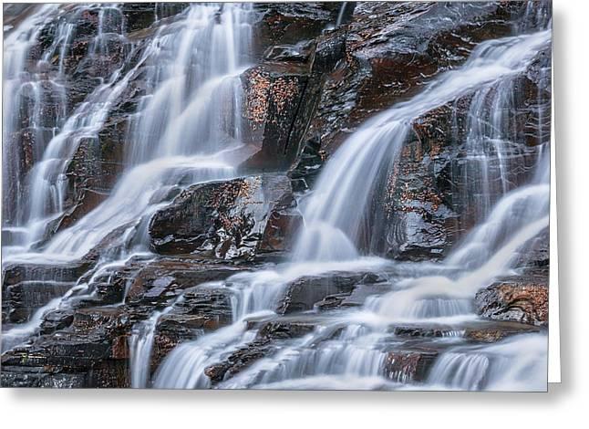 Clean Water Greeting Cards - Waterfalls McDonald Creek Falls Glacier National Park  Greeting Card by Rich Franco