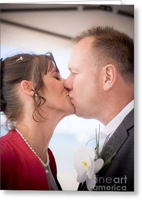 Wedding Kiss Greeting Card by Jorgo Photography - Wall Art Gallery