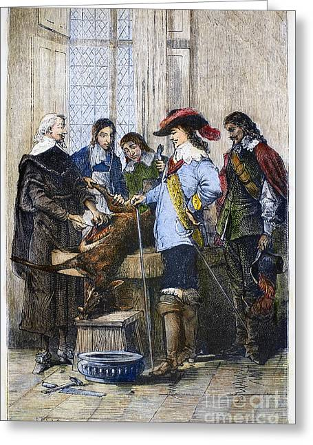 Deer Hat Greeting Cards - William Harvey (1578-1657) Greeting Card by Granger