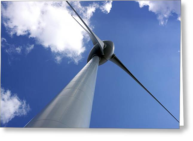 Supply Greeting Cards - Wind turbine Greeting Card by Bernard Jaubert