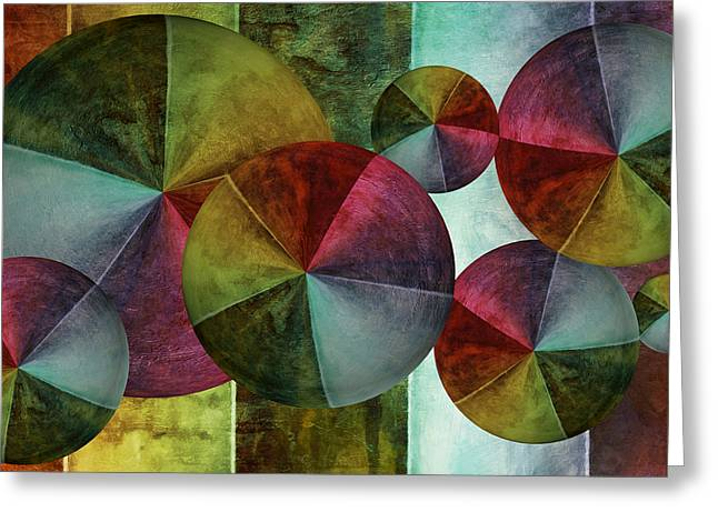 Rainbow Umbrella Greeting Cards - 5 Wind Worlds Greeting Card by Angelina Vick